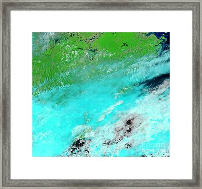 Floods In Jiangxi Province, China Framed Print by Nasa