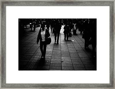 Floor Light Framed Print by Gabriel Calahorra