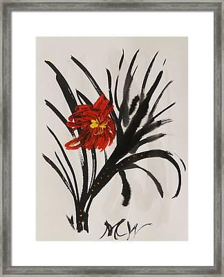 Flora Exotic Framed Print