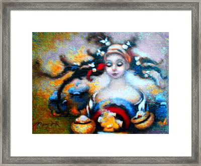 Flora Mae Brightened Framed Print