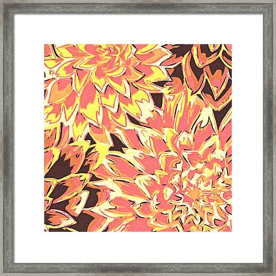 Floral Abstraction 18 Framed Print by Sumit Mehndiratta