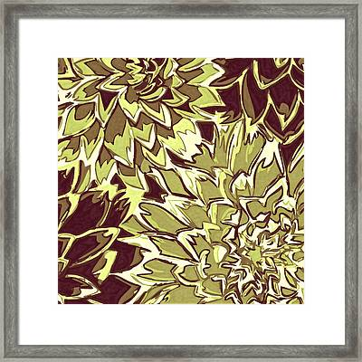 Floral Abstraction 19 Framed Print by Sumit Mehndiratta
