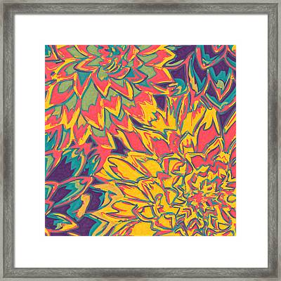 Floral Abstraction 22 Framed Print by Sumit Mehndiratta