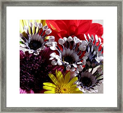 Floral Bliss Framed Print by Monika A Leon