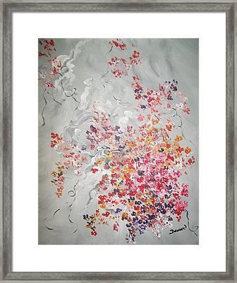 Floral Bouquet Framed Print by Raymond Doward