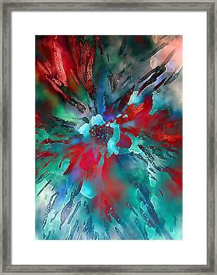 Floral Eruption Framed Print by AnneLise McCoy
