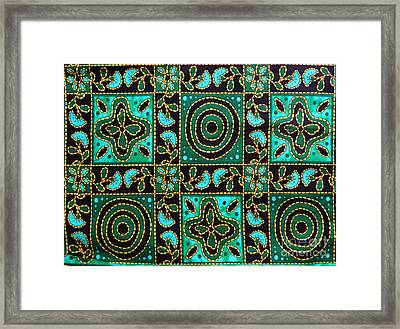 Floral Fabric Pattern Framed Print by Phalakon Jaisangat