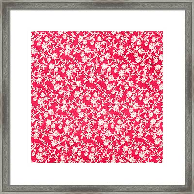 Floral Fabric Framed Print