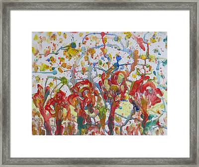 Framed Print featuring the painting Floral Feel by Sonali Gangane