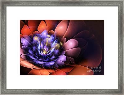 Floral Flame Framed Print