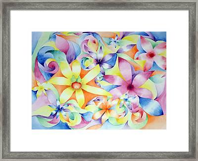 Floral Fractal Framed Print by Linda Pope