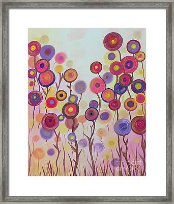 Framed Print featuring the painting Floral Jewels by Stacey Zimmerman