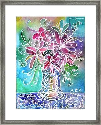 Floral Framed Print by M c Sturman