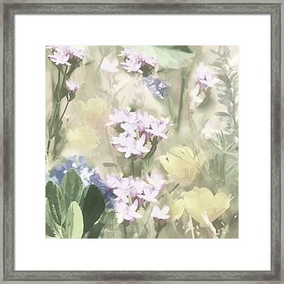 Floral Montage No. 4 Framed Print by Bonnie Bruno