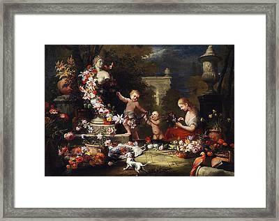 Floral Offering To The Goddess Venus Framed Print