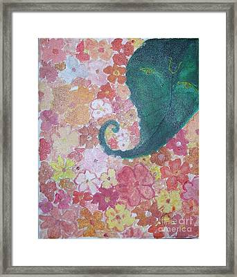 Floral Offerings To Lord Ganesha Framed Print