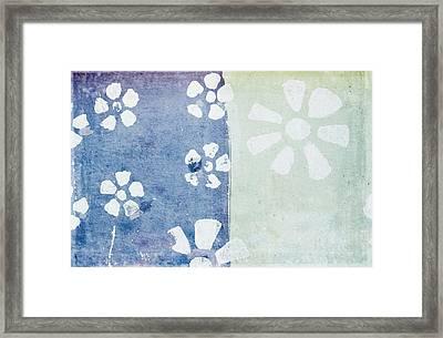Floral Pattern On Old Grunge Paper Framed Print by Setsiri Silapasuwanchai