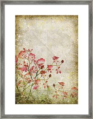 Floral Pattern Framed Print by Setsiri Silapasuwanchai