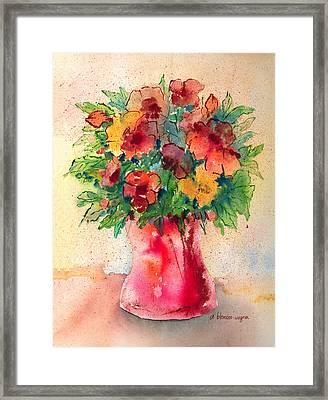 Floral Still Life Framed Print by Arline Wagner
