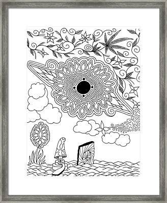 Floral Sun Framed Print by Andrew Padula