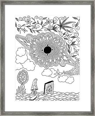Floral Sun Framed Print