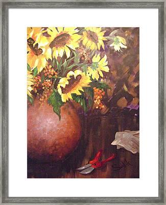 Floral Sunshine Framed Print by Barbara Sudik