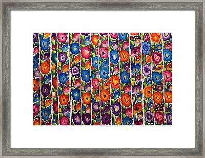 Floral Textile Framed Print