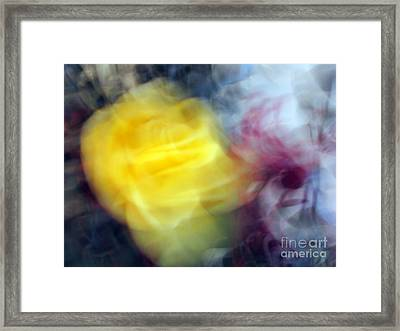 Florals In Motion 3 Framed Print by Cedric Hampton