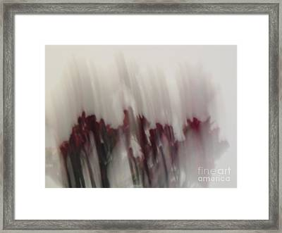 Florals In Motion 5 Framed Print by Cedric Hampton