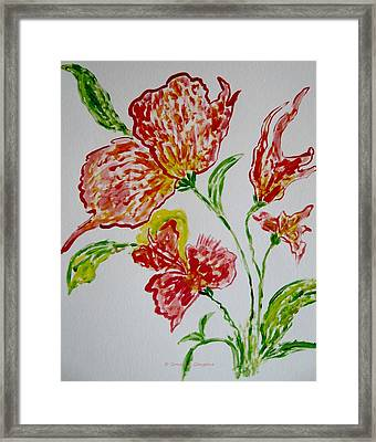 Framed Print featuring the painting Florals by Sonali Gangane