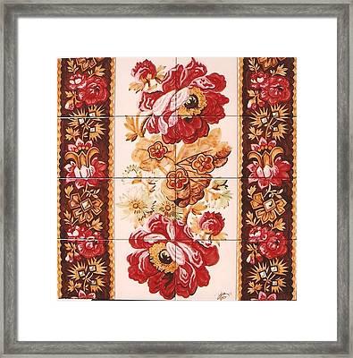 Florao Vermelho Framed Print by Paula Teresa