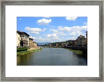 Framed Print featuring the photograph Florence Arno River by Patrick Witz