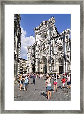 Florence Cathedral - Tuscany Italy Framed Print by Matthias Hauser
