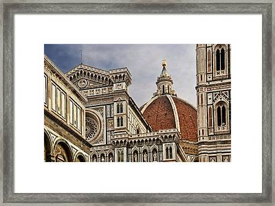 Framed Print featuring the photograph Florence Duomo by Steven Sparks