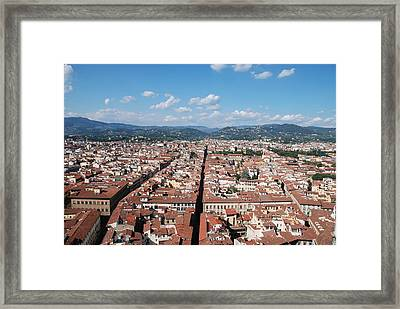 Framed Print featuring the photograph Florence From The Duomo by Dany Lison
