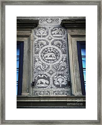Florence Italy - Architectural Detail - 01 Framed Print by Gregory Dyer