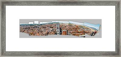 Florence Italy - Panorama -01 Framed Print by Gregory Dyer