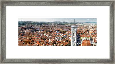 Florence Italy - Panorama -02 Framed Print by Gregory Dyer
