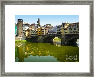 Florence Italy - Ponte Vecchio - 05 Framed Print by Gregory Dyer