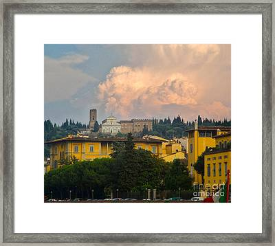 Florence Italy - San Miniato Al Monte Framed Print by Gregory Dyer