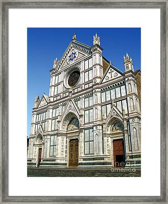 Florence Italy - Santa Croce - 02 Framed Print by Gregory Dyer