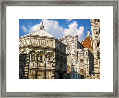 Florence Italy - Santa Maria Del Fiore Framed Print by Gregory Dyer