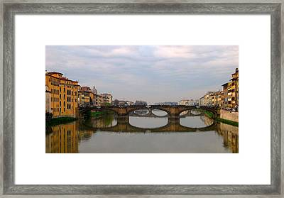 Florence Italy Bridge Framed Print