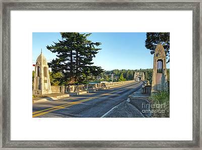 Florence Oregon - Art Deco Bridge - 02 Framed Print by Gregory Dyer