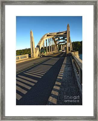 Florence Oregon - Art Deco Bridge Framed Print by Gregory Dyer