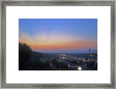 Florence Sunset Framed Print by La Dolce Vita