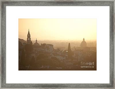Florentine Sunset Framed Print by Steven Gray