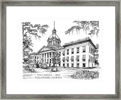 Florida Capitol 1902 Ink Framed Print