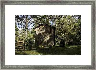 Florida Cracker Barn Framed Print by Lynn Palmer