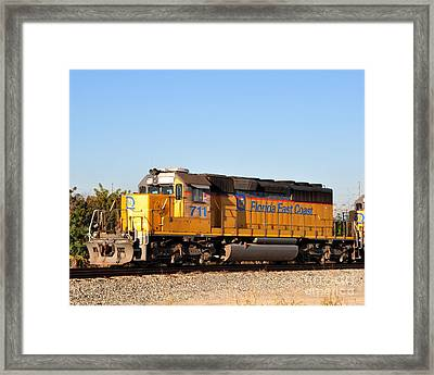 Florida East Coast Sd40-2 711 Framed Print